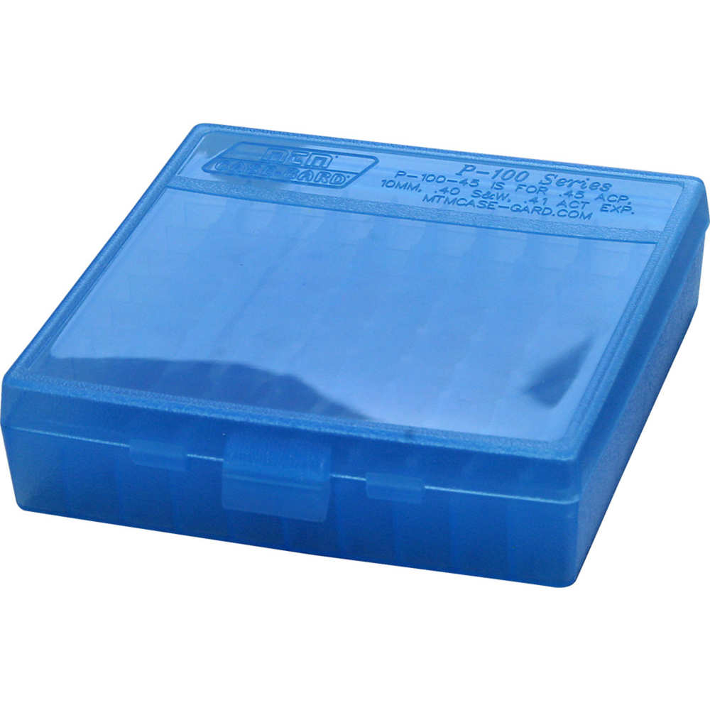 mtm case-gard - Case-Gard - P100 LGE HNDGN AMMO BOX 100RD - CLR BLUE for sale