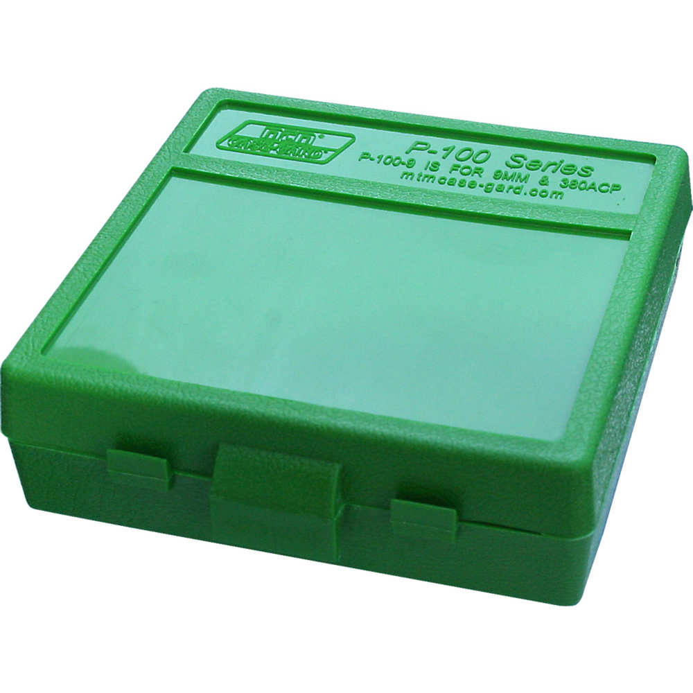 mtm case-gard - Case-Gard - P100 SML HNDGN AMMO BOX 100RD - GREEN for sale