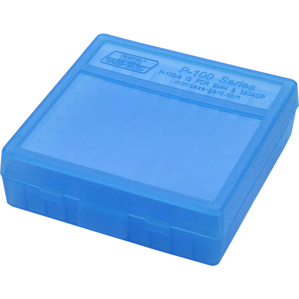 mtm case-gard - Case-Gard - P100 SML HNDGN AMMO BOX 100RD - CLR BLUE for sale