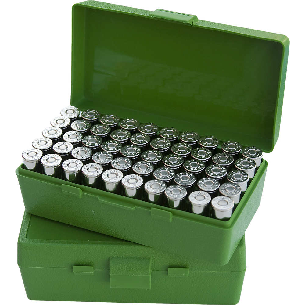 mtm case-gard - Case-Gard - P50 LGE HNDGN AMMO BOX 50RD - GREEN for sale