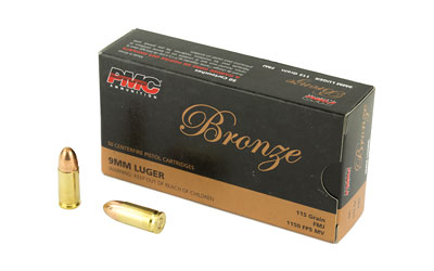 PMC BRNZ 9MM 115GR FMJ 50/1000 - for sale