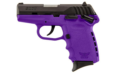 SCCY 9MM POLY PURP/BLK DAO w/SAFETY - for sale