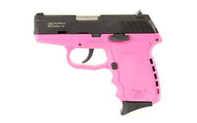 SCCY 9MM POLY PINK/BLK DAO 2MAGS - for sale