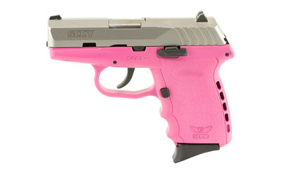 SCCY 9MM POLY PINK/SATIN DAO 2MAGS - for sale