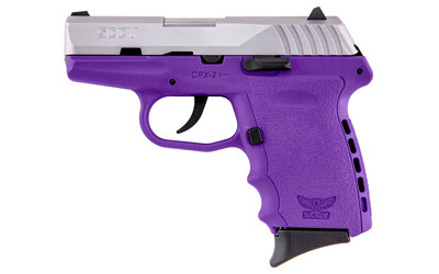 SCCY 9MM POLY PURPLE/SATIN DAO 2MAG - for sale