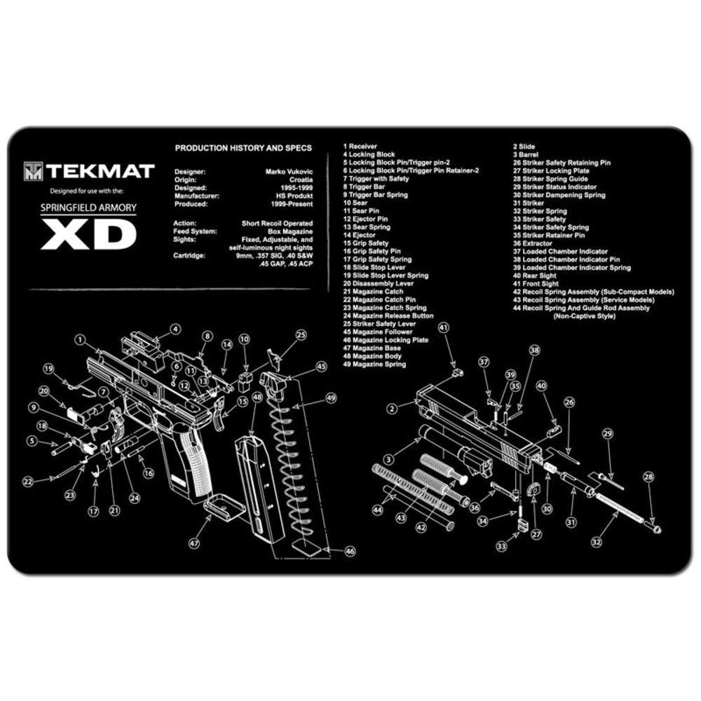 tekmat - Springfield XD - TEKMAT SPRINGFIELD XD - 11X17IN for sale