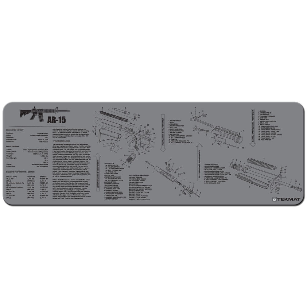 tekmat - Original Cleaning Mat - TEKMAT AR15 GREY - 12X36IN for sale