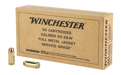 WIN AMMO SERVICE GRADE .40SW 165GR. FMJ-RN 50-PACK - for sale