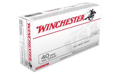 WIN USA 40SW 165GR FMJ 50/500 - for sale