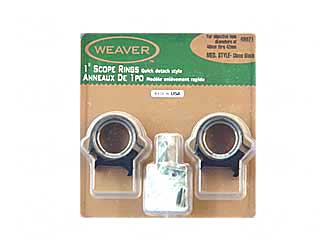 "WEAVER TOP MOUNT RNGS 1"" MED - for sale"